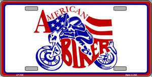 American Biker Novelty Wholesale Metal License Plate