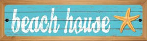 Beach House Wholesale Novelty Wood Mounted Metal Small Street Sign WB-K-506