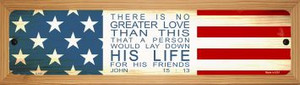 His Life Wholesale Novelty Wood Mounted Metal Small Street Sign WB-K-519