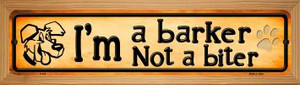 Im A Barker Wholesale Novelty Wood Mounted Metal Small Street Sign WB-K-545