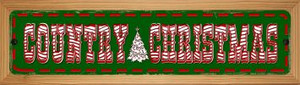 Country Christmas Wholesale Novelty Wood Mounted Metal Small Street Sign WB-K-598