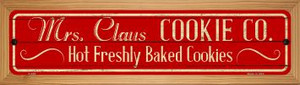 Mrs Claus Cookie Co Wholesale Novelty Wood Mounted Metal Small Street Sign WB-K-650
