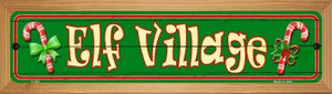 Elf Village Wholesale Novelty Wood Mounted Metal Small Street Sign WB-K-657