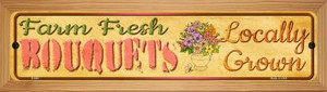 Farm Fresh Bouquets Wholesale Novelty Wood Mounted Metal Small Street Sign WB-K-669