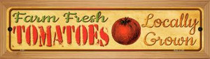 Farm Fresh Tomatoes Wholesale Novelty Wood Mounted Metal Small Street Sign WB-K-681