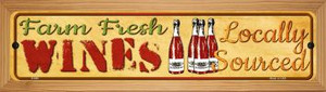 Farm Fresh Wines Wholesale Novelty Wood Mounted Metal Small Street Sign WB-K-686