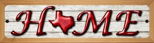 Texas Home State Outline Wholesale Novelty Small Metal Street Sign WB-K-781