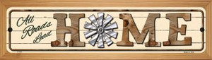 All Roads Lead Home Wholesale Novelty Wood Mounted Metal Small Street Sign WB-K-792