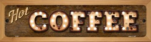 Hot Coffee Wholesale Novelty Wood Mounted Metal Small Street Sign WB-K-820