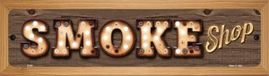 Smoke Shop Wholesale Novelty Wood Mounted Metal Small Street Sign WB-K-821