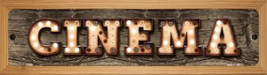Cinema Wholesale Novelty Wood Mounted Metal Small Street Sign WB-K-826