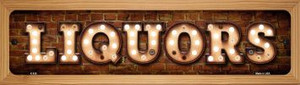 Liquors Wholesale Novelty Wood Mounted Metal Small Street Sign WB-K-838