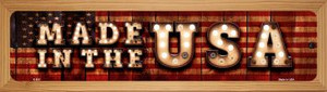 Made in the USA Wholesale Novelty Wood Mounted Metal Small Street Sign WB-K-850