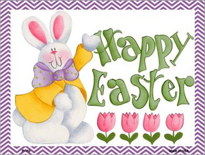 Happy Easter Purple Wholesale Metal Novelty Parking Sign P-110