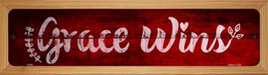Grace Wins Wholesale Novelty Wood Mounted Metal Small Street Sign WB-K-909
