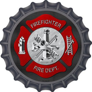 Firefighter Wholesale Novelty Metal Bottle Cap BC-484