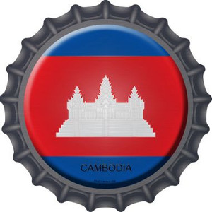Cambodia Country Wholesale Novelty Metal Bottle Cap BC-221
