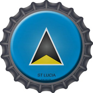 St Lucia Country Wholesale Novelty Metal Bottle Cap BC-426