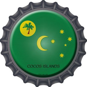Cocos Islands Country Wholesale Novelty Metal Bottle Cap BC-236