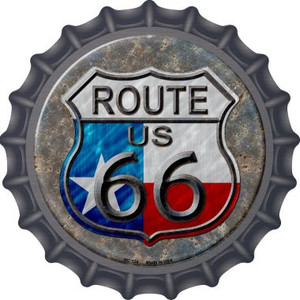 Texas Route 66 Wholesale Novelty Metal Bottle Cap BC-524