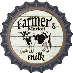 Farmers Market Milk Wholesale Novelty Metal Bottle Cap BC-592