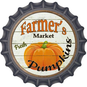 Farmers Market Pumpkins Wholesale Novelty Metal Bottle Cap BC-601