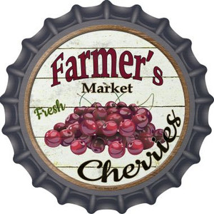 Farmers Market Cherries Wholesale Novelty Metal Bottle Cap BC-613