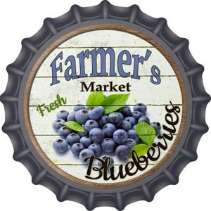 Farmers Market Blueberries Wholesale Novelty Metal Bottle Cap BC-627