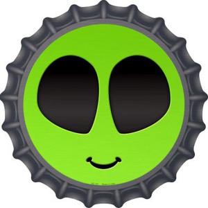 Alien Smile Face Wholesale Novelty Metal Bottle Cap BC-727