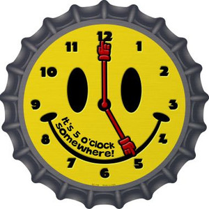 5 O Clock Somewhere Wholesale Novelty Metal Bottle Cap BC-735