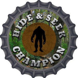 Hide and Seek Champion Bigfoot Wholesale Novelty Metal Bottle Cap BC-754