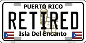 Retired Puerto Rico Wholesale Metal Novelty License Plate LP-6865