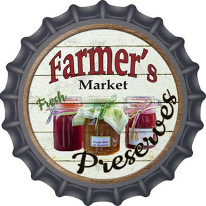Farmers Market Preserves Wholesale Novelty Metal Bottle Cap BC-804