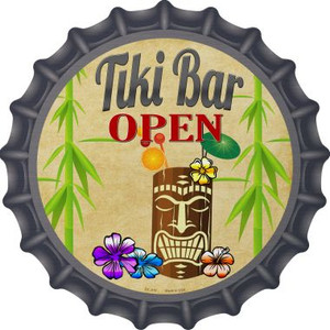 Tiki Bar Open Wholesale Novelty Metal Novelty Metal Bottle Cap BC-815