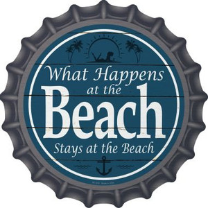 Happens At The Beach Stays At The Beach Wholesale Novelty Metal Bottle Cap BC-830