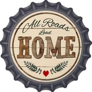 All Roads Lead Home Wholesale Novelty Metal Bottle Cap BC-859