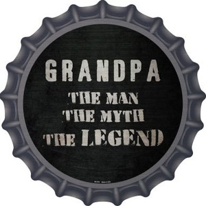 Grandpa The Legend Wholesale Novelty Metal Bottle Cap BC-876