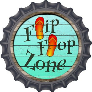 Orange Flip Flop Zone Wholesale Novelty Metal Bottle Cap BC-880