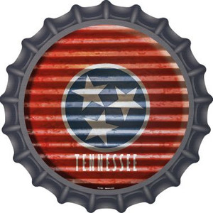 Tennessee Flag Corrugated Effect Wholesale Novelty Metal Bottle Cap BC-952
