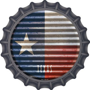 Texas Flag Corrugated Effect Wholesale Novelty Metal Bottle Cap BC-953