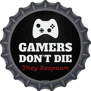 Round Controller Gamers Dont Die Wholesale Novelty Metal Bottle Cap