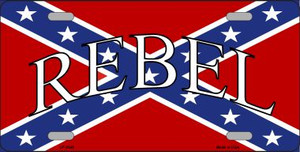 Rebel Confederate Flag Wholesale Metal Novelty License Plate LP-4345