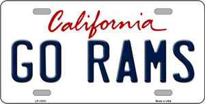 Go Rams Wholesale Novelty Metal License Plate Tag LP-13321