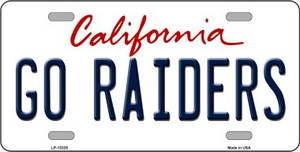 Go Raiders Wholesale Novelty Metal License Plate Tag LP-13325