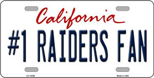 Number 1 Raiders Fan Wholesale Novelty Metal License Plate Tag LP-13326