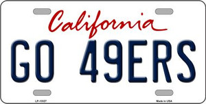 Go 49ers Wholesale Novelty Metal License Plate Tag LP-13327