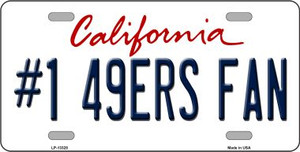 Number 1 49ers Fan Wholesale Novelty Metal License Plate Tag LP-13328