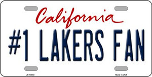 Number 1 Lakers Fan Wholesale Novelty Metal License Plate Tag LP-13344