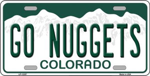 Go Nuggets Wholesale Novelty Metal License Plate Tag LP-13357