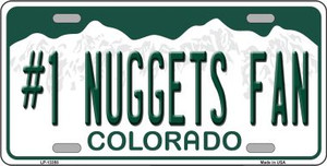 Number 1 Nuggets Fan Wholesale Novelty Metal License Plate Tag LP-13358